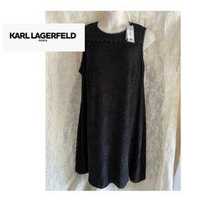 NWT Karl Lagerfeld Paris plus size 22W black lined